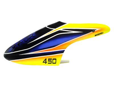 Airbrush Fiberglass Blue Evil Canopy - BLADE 450X/3D  sc 1 st  microheli & BLADE 450 series : Airbrush Fiberglass Blue Evil Canopy - BLADE ...
